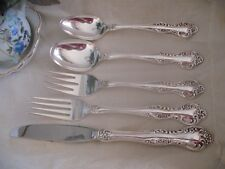 5 Piece Reed & Barton Silverplate Flatware Place Setting, 1966 Wisteria