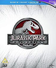 Jurassic Park 3D + Blu Ray Collection Box Set Jurassic World RB New Sealed