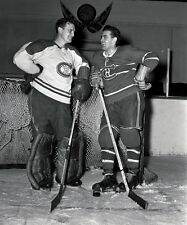 Bill Durnan & Maurice Richard Montreal Canadiens Unsigned 8x10 Photo
