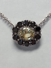 Yellow Sapphire and Black Diamond Necklace