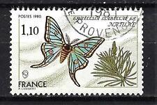 France 1980 papillon n° 2089 oblitéré 1er choix (1)