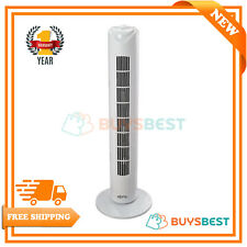 """Fine Element Cool Electric Tower Cooling Fan 70 Degrees Oscillating 3-Speed 32"""""""