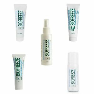 Biofreeze  Pain Relief Tube Gel Roll On Spray  Full Range