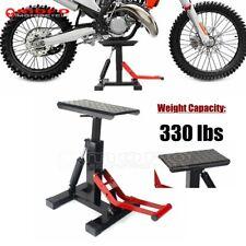 330lbs Motorcycle Lift Jack Stand Off Road Bike Adjustable Repair Lifting Table