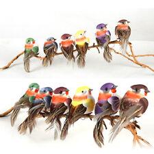 Mini fake birds artificial feather foamdoves wedding decoration venue ornamen -T