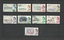 1965 Queen Elizabeth II SG250 - SG260 10s. Red/Blue Short Set Fine Used BAHAMAS