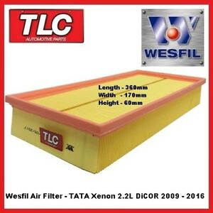 Wesfil Air Filter - TATA Xenon 2.2 DiCor Diesel 2009 - 2016