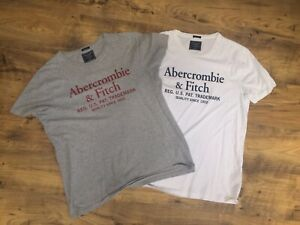 Abercrombie and fitch Mens T Shirt 2 Pack - White (Never Worn) & Grey Size M.