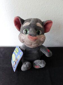 """TALKING TOM Plush Interactive Talk Back 10"""" Gray Cat Kitten ! New w/ Hangtag NEW"""