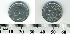 Great Britain 1945 - 6 Pence Silver Coin - George VI - WWII mintage