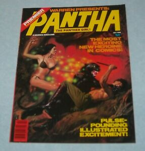 October 1980 WARREN PANTHA the PANTHER GIRL ILLUSTRATED MAGAZINE AURALEON ART