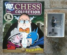 DC Chess Collection #29 Ventriloquist Black Pawn Resin Figure & Magazine