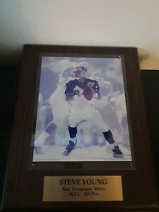 Steve Young San Francisco 49ers NFL All Pro Plaque Wall Football 1996 Souvenir