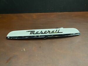 2014 Maserati Ghibli S Q4 Rear Trunk Lid Molding Trim Panel White OEM. VY