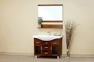 39.8 in Walnut Single Sink Bathroom Vanity with 4 Drawers ***FREE SHIPPING***