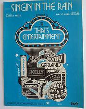 Singin' In The Rain - 1957 Sheet Music; By Arthur Reed & Nacio Herb Brown