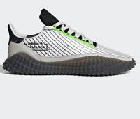 $150 Adidas Originals KAMANDA Shoes - Crystal White/Core Black - Men's Size 12