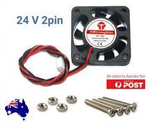 Case Fan 24V 0.06 A 40mm x 40mm x 10mm Brushless PC Fan cooler 2 pin + bolts inc