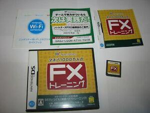 Manepa 1000-Mannin no FX Training Nintendo DS Japan import US Seller