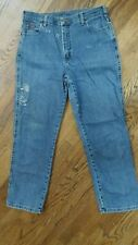 Vtg 80-90s LEE Jeans High Waisted Mom Size 12 32/29 Short Stonewashed Distressed