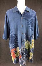 Tommy Bahama Hawaiian Aloha Shirt Size L 100% Silk Vacation BBQ Floral Tropical