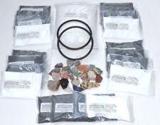 Rock Polishing Grit, 5, 3lb Packs With 1# Madagascar Stones, Pellets, Belts