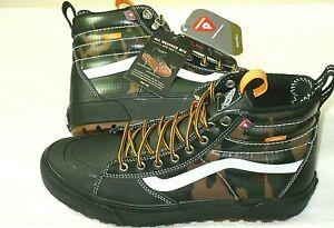Vans Mens Sk8-Hi Mte 2.0 Dx All Weather Skate Winter Boots Black Camo Size 9 NEW