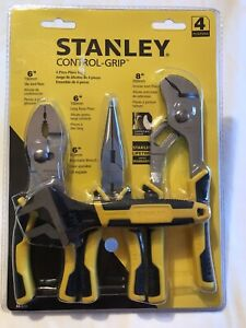 Stanley 4pc Pliers Set Control-grip 84-558