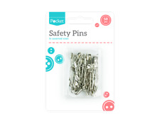 50 Safety Pins Silver - Sewing Clothes Craft