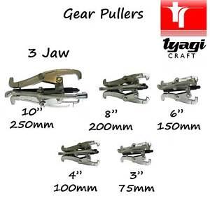"Jaw Gear Puller Reversible Sprocket Bearings Pulley 3"" 4"" 6"" 8"" 10"" inch Reverse"