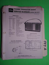 Toshiba 13m-927f service manual original repair book transistor radio 8 pages
