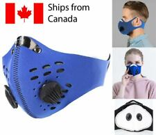 Washable Reusable Face mask with filter cloth mask neoprene cycling Unisex Blue