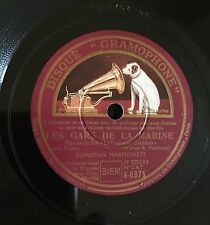 """RARE 78RPM 10"""" GRAMOPHONE COMEDIAN HARMONISTS LES GARS DE LA MARINE QUAND LA BRI"""