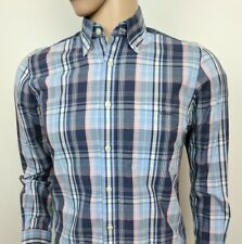 "Gant Mens Shirt Georgica Poplin E-Z Fit Plaid Check Size S Chest 38"" New RRP£90"