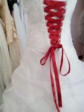 Lacet ruban BORDEAUX / 3 mètres - satiné pour robe de mariée/soirée