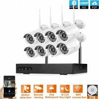8CH 1080P DVR IP Wifi Security Camera System + Hard Drive 2TB Outdoor CCTV Lot