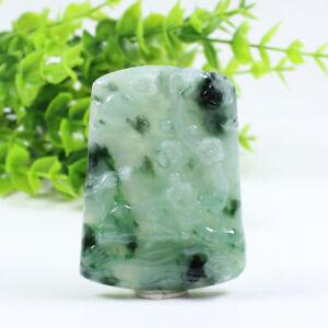 "Certified Grade ""A"" Natural Emerald Green Jadeite Jade Pendant Sika deer a3228"