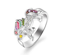 HORSE & WESTERN JEWELLERY JEWELRY LADIES HORSE UNICORN  RING SILVER FREE SIZE