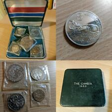 1966 The Gambia Proof 3d, 1s, 2s, 4s + 1970 Silver Proof 8 Shillings