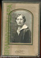 Antique Photo in Folder - La Junta, Colorado Lady W/ Glasses JOHNSON Family