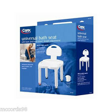Carex Universal Bath Shower Chair Seat with Back - Capacity: 400 lbs.