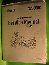 YAMAHA XZ550 RK SERVICE MANUAL BOOK OEM # LIT-11616-XZ-55