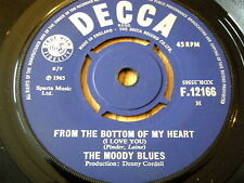 """THE MOODY BLUES - FROM THE BOTTOM OF MY HEART    7"""" VINYL"""