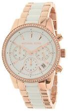 Michael Kors MK6324 Ritz Crystals Bezel Women's Rosegold Steel Watch New in Box