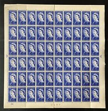 SOUTH AFRICA QE 1953 CORONATION COMPLETE MNH SHEET .