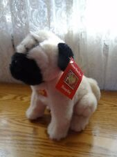 """NEW WITH TAG Lunar Chinese Happy New Year Stamp Pug Plush Dog 8"""""""
