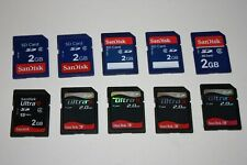 Lot of 10 SD Memory Cards 2gb SanDisk