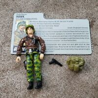 Vintage GI Joe figure 1986 Hawk complete with accessories and file card