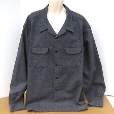 NEW Pendleton Wool Denim Original Board Shirt Mens Size 5X Dark Blue Long Sleeve