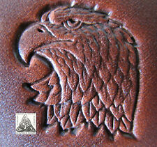 """New listing Discontinued 1986 Craftool Co. Usa Eagle Head Left 1"""" Leather Stamp Tool 8361"""